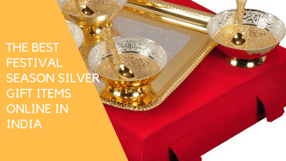 The best festival season silver gift items online in India - Unusual