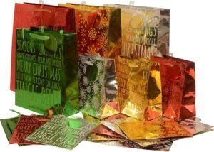 Christmas foil Gift bags