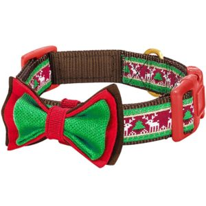 Christmas holiday season dog collar