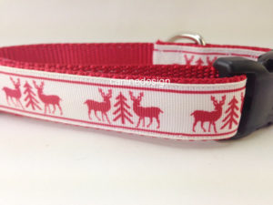 Christmas reindeer dog collar