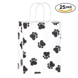 Dog Paw Prints Paper Bags