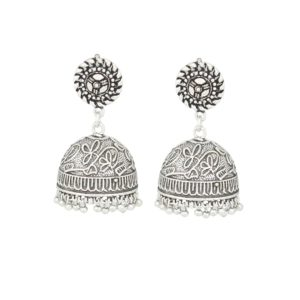 Ethnic Silver Jhumki Earrings