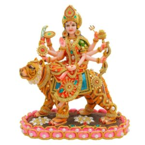 Gold Plated Durga Maa Idol