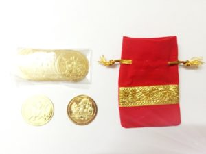 Gold Plated Vaishno Devi coins