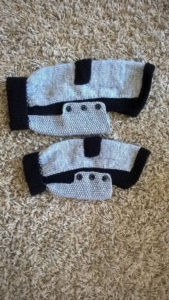 Hand knitted dog jumpers
