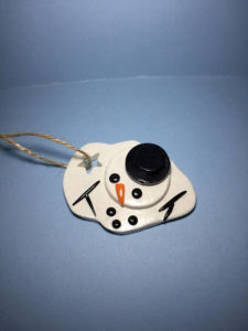 Melted snowman ornaments for Christmas tree