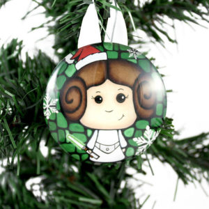 Princess Leia Star Wars tree ornament
