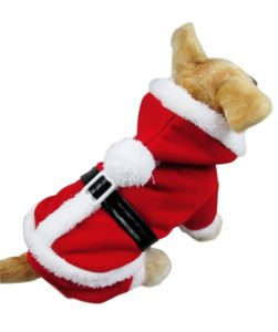 Puppy Santa apparel with hoodie