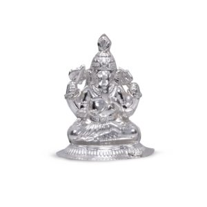 Silver idol of lord Ganesha