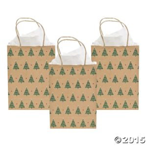 Tree Print Kraft Gift Bags