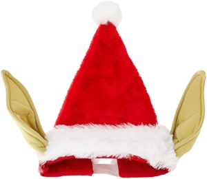 Yoda Santa hat with bendable ears