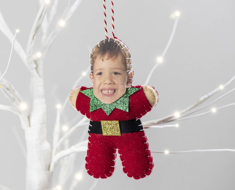 An ornament for elf Christmas tree decorations