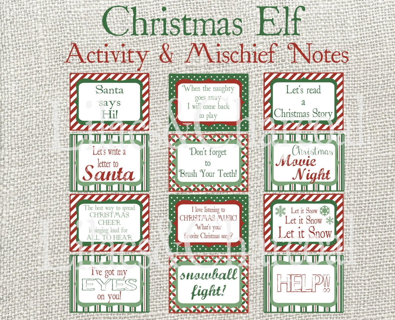 Elf cards for Christmas