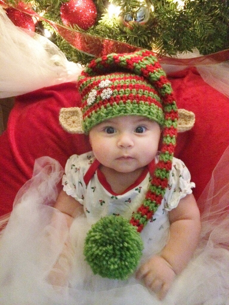 Newborn Christmas elf hat