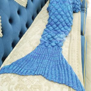 A Mermaid tail blanket for the chilly winters