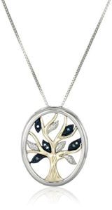 A pendant necklace hosting a classic design