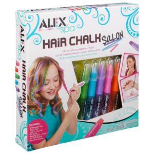 Allow them to sport their spunk with hair chalk