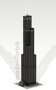 Custom LEGO building skyscraper