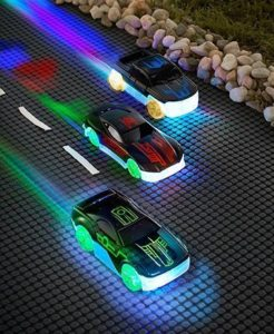 LED racing toy cars