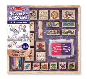 Make colouring interesting with wooden stamps
