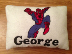 Personalized superhero pillow