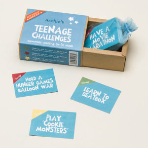 Teenage challenge box