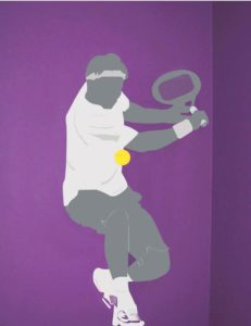 Tennis player Wall Art
