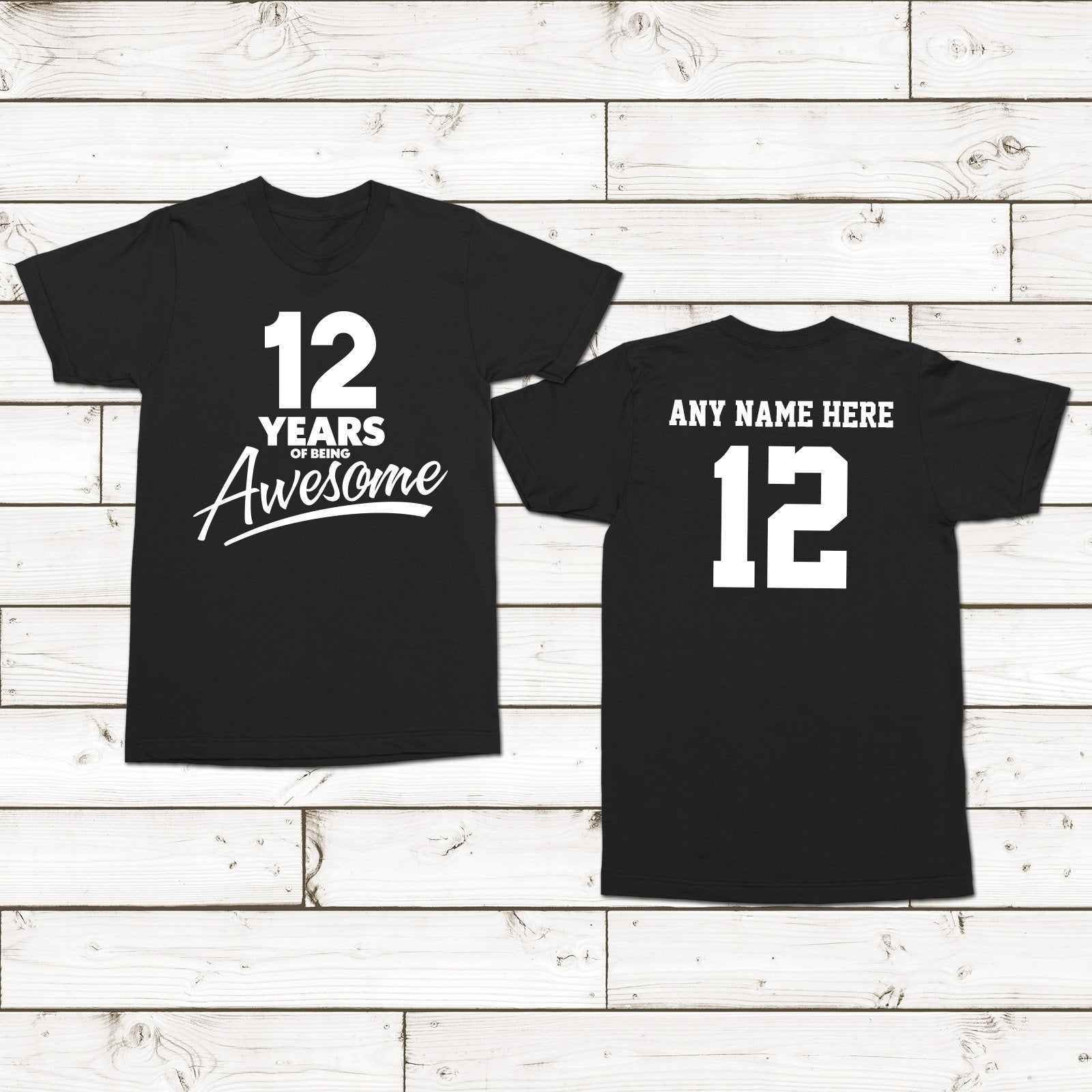 12th Birthday Party Shirt