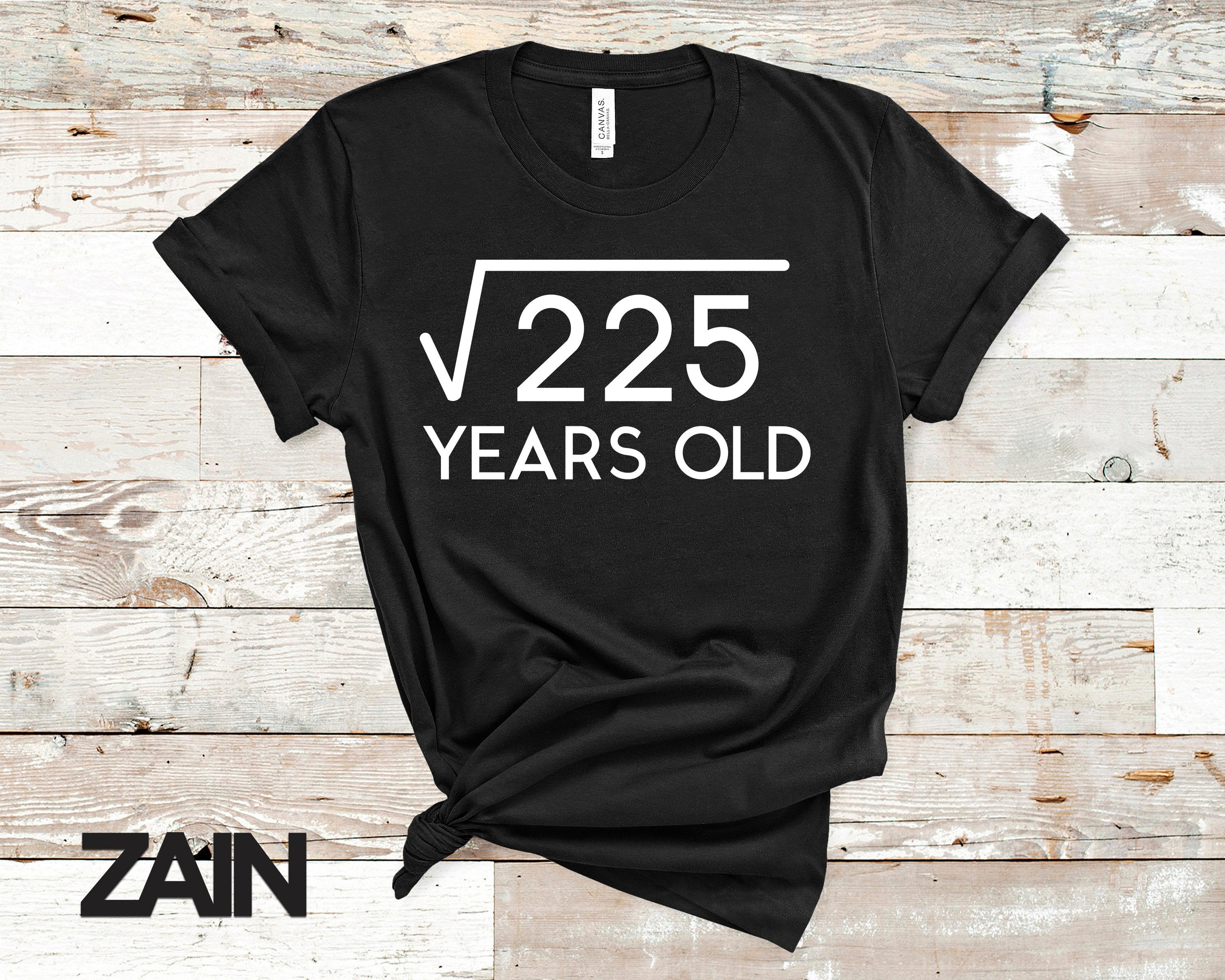 Square Root Of 255 Years Old T-Shirt,