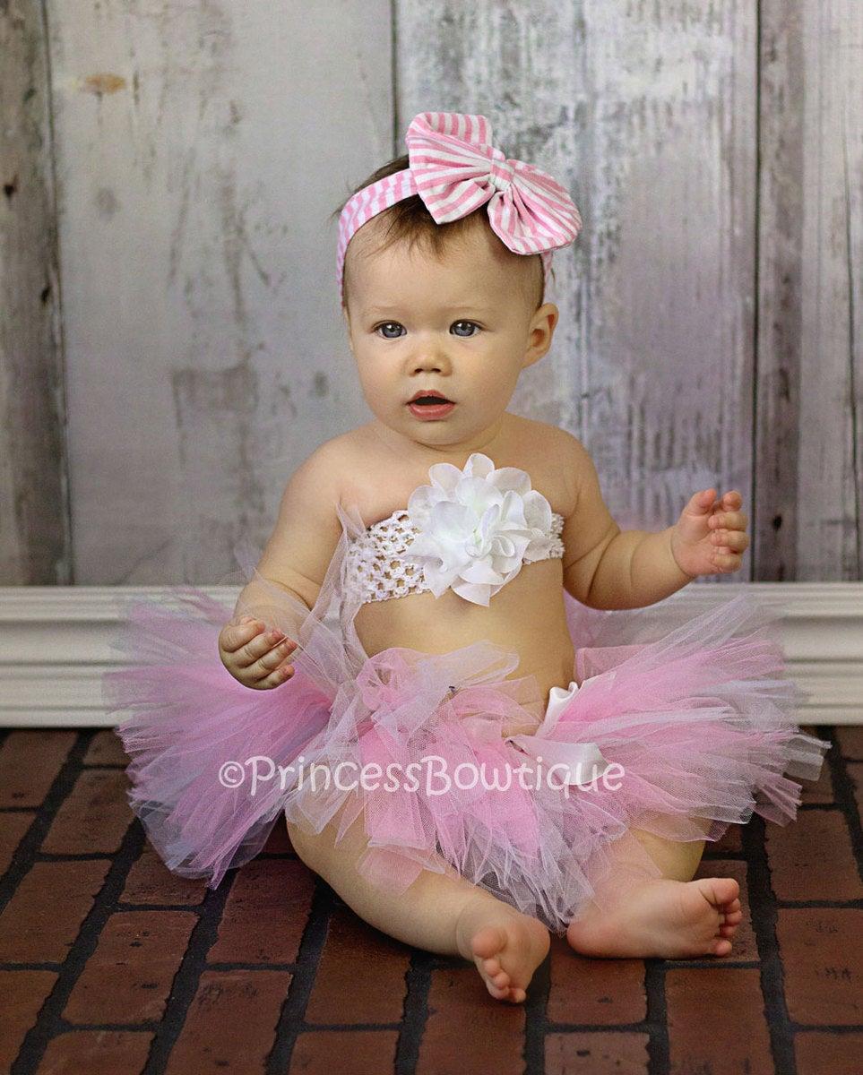 white and pink tutu