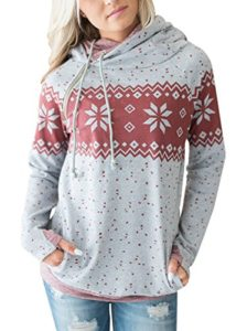 A snow flake printed hoodie