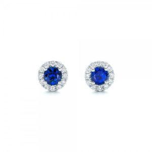 Bridal sapphire earrings