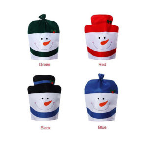 Christmas Snowman Chair covers of different colours