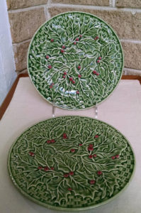 Christmas berry salad plates