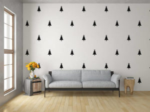 Complete your decorations with Christmas tree wall decals
