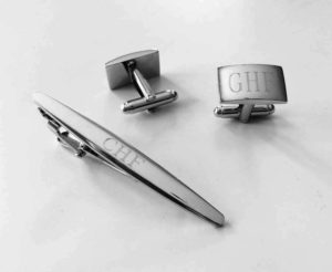 Custom Cuff Links & Tie Clip