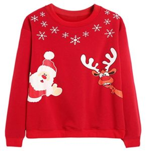 Embody the spirit of Christmas with the Santa sweatshirt