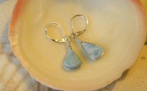 Gemstone dangler earrings