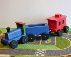 Get the basic wooden toy train