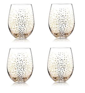Gold fizz confetti wine glasses