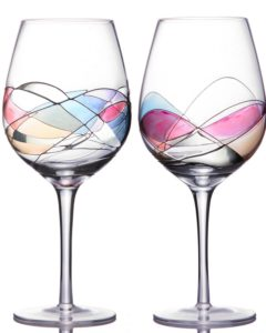 Handcrafted and printed wine glasses