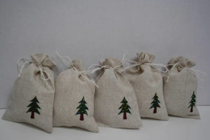 Handmade Christmas tree gift bag