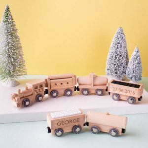 How about a wooden magnet toy train set