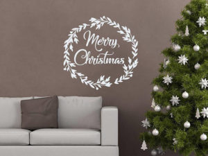 Keep it simple with Merry Christmas decal