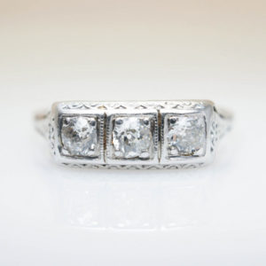 Late Edwardian engagement ring