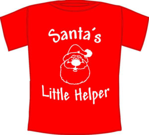Make the kids behave with Santa's little helpers t-shirt