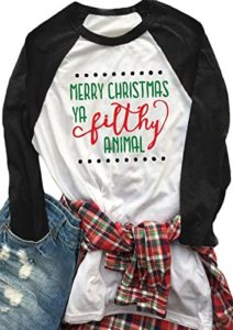 Merry Christmas you filthy animal t-shirt for the home alone lover