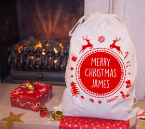 Personalized Xmas tree storage bag