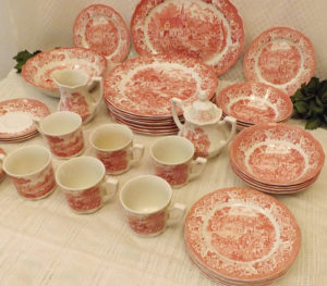 Pink Ironstone complete dinner set