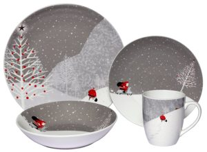 Porcelain Santa Comes Home dinner set